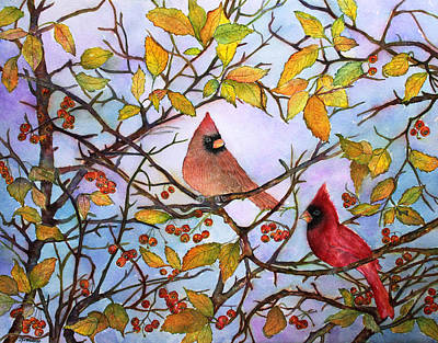 Painting - Illinois Cardinals  by Janet Immordino
