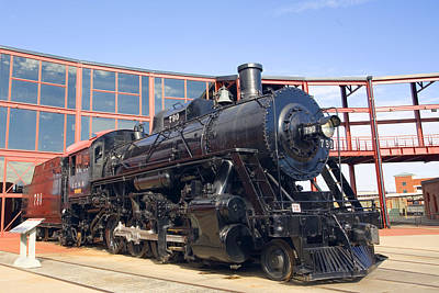 Photograph - Illinois Central No. 790 In The Roundhouse by Gene Walls