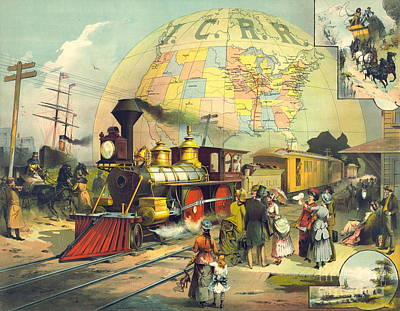 Illinois Central Railroad 1882 Art Print by Padre Art