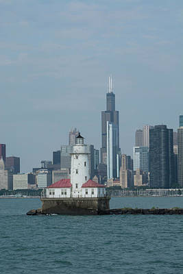 Historic Site Photograph - Illinois, Chicago, Lake Michigan by Cindy Miller Hopkins