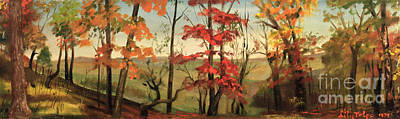 Painting - Illinois Country Woods by Art By Tolpo Collection