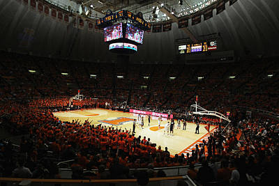 Illinois Fighting Illini Assembly Hall Art Print by Replay Photos