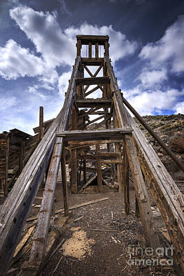 Beers On Tap - Illinois Mine Head Frame by Dianne Phelps