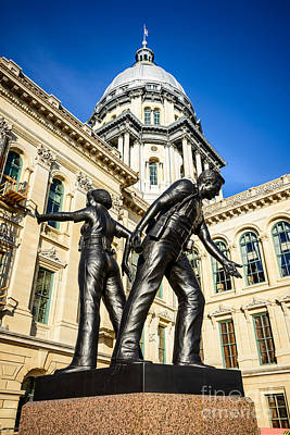 Capitol Building Photograph - Illinois Police Officers Memorial In Springfield by Paul Velgos
