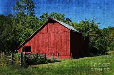 Photograph - Illinois Red Barn 2 by Luther Fine Art