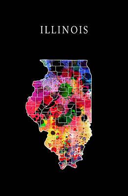 Chicago Bulls Digital Art - Illinois State by Daniel Hagerman