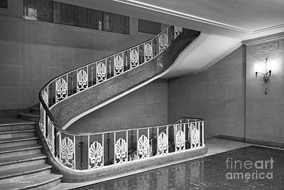 Illinois State University Williams Hall Stairway Print by University Icons