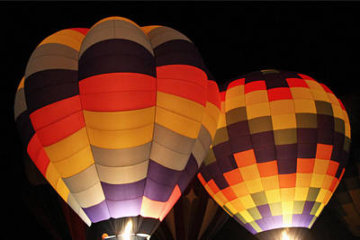 Photograph - Illuminated Balloons by Sharon I Williams