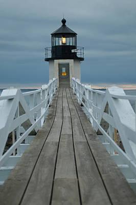 Photograph - Illuminated Boardwalk by Paul Mangold