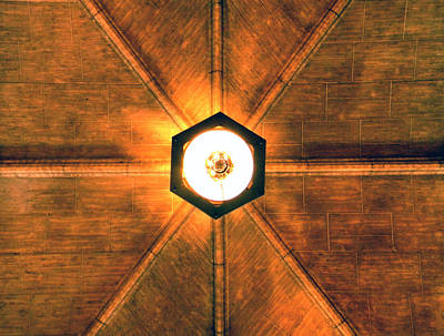 Photograph - Illuminated Ceiling by Heather Hollingsworth