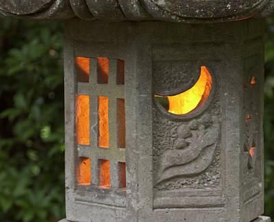 Sutton Photograph - Illuminated Lantern In Portland by William Sutton