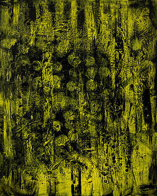 Painting - Illuminescent Yellow On Black Painting by Renee Anderson