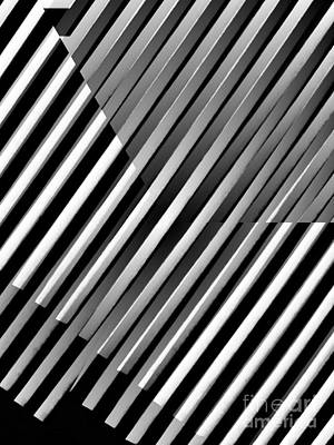 Digital Art - Illusion in Black and White by Sarah Loft