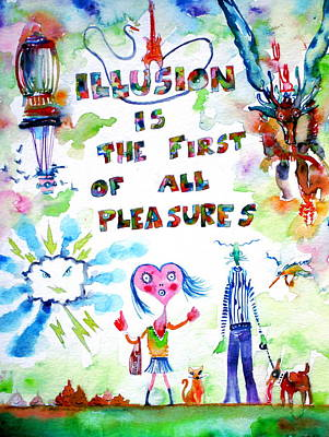Illusion Is The First Of All Pleasures Art Print by Fabrizio Cassetta