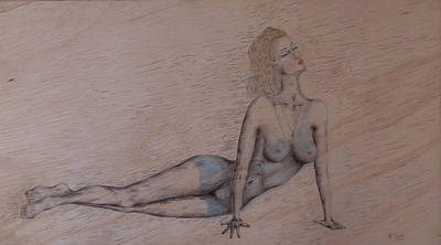 Drawing - Illusion On Wood by Kenneth Clarke