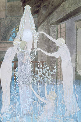 Haunting Drawing - Illustation From Le Reve by Carlos Schwabe