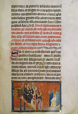 Clergy Photograph - Illustrated Page Of 'codex Membran' Manus by British Library