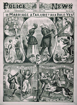 Illustrated Police News Art Print by British Library