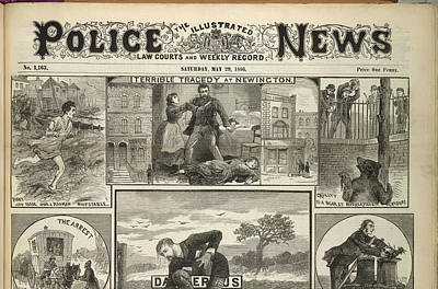 Illustrated Police News Front Page Art Print by British Library