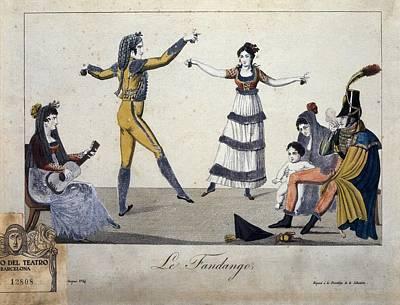 Gipsy Photograph - Illustration Depicting A Fandango by Everett
