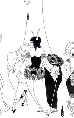 Stark Drawing - Illustration For The Masque Of The Red Death by Aubrey Beardsley