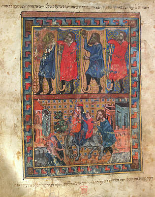 Judaism Photograph - Illustration From A Haggadah by British Library