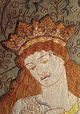 Arts And Crafts Movement Photograph - Illustration From Geoffrey Chaucers Legend Of Good Women C.1875 Tapestry by William Morris