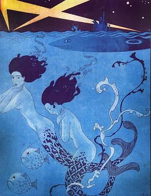 Illustration From 'la Baionnette' Art Print by Georges Barbier