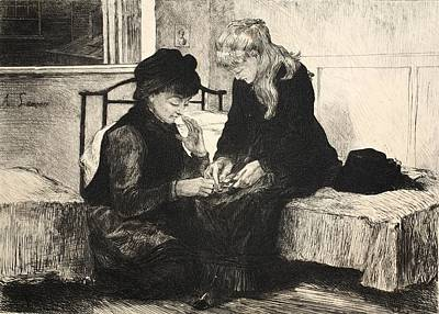 Pen And Ink Drawing Drawing - Illustration From La Rue A Londres by Auguste Andre Lancon