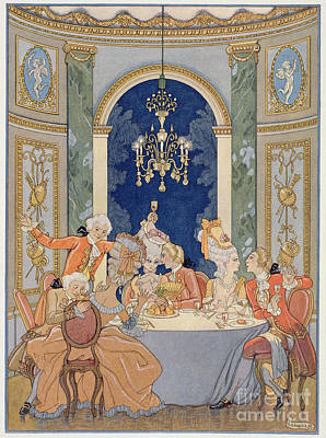 Liaison Painting - Illustration From 'les Liaisons Dangereuses'  by Georges Barbier