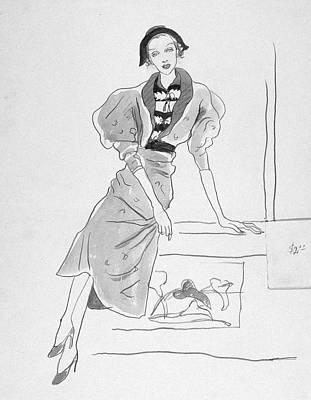 Cross Legged Digital Art - Illustration Of A Fashionable Woman by Cecil Beaton