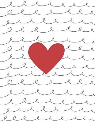 Secret Admirer Photograph - Illustration Of A Heart by Daniel Sicolo