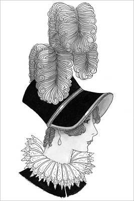 Illustration Of A Nineteenth Century Woman Art Print