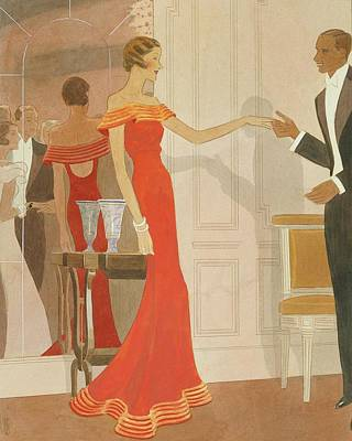Fashion Illustration Wall Art - Digital Art - Illustration Of A Woman At A Debutante Ball by Eduardo Garcia Benito