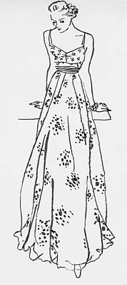 Illustration Of A Woman In A Dress Art Print by Abrams
