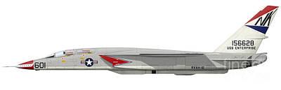 Cargo Boats - Illustration Of An Ra-5c Vigilante by Inkworm