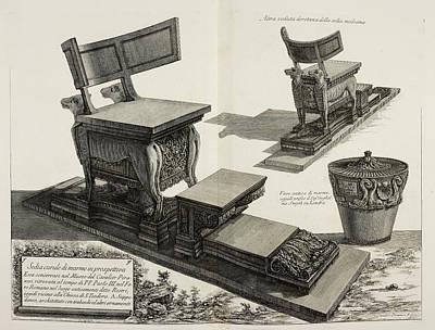 Illustration Of Antique Furniture Art Print