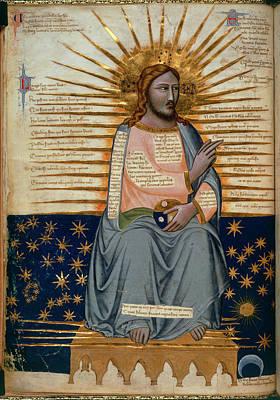 Illustration Of Christ In Heaven Art Print