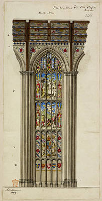 Ing Photograph - Illustration Of Church Stained Glass Wind by British Library