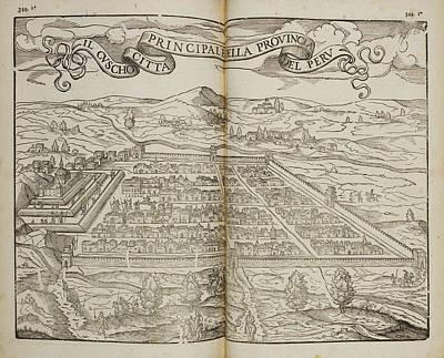 Cartography Photograph - Illustration Of Cusco by British Library