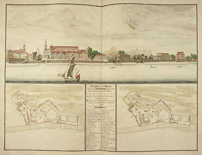 Illustration Technique Photograph - Illustration Of Deptford Dockyard by British Library