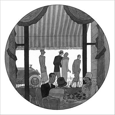 Food Digital Art - Illustration Of Madame De Gainza And Madame De by Pierre Mourgue
