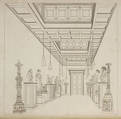 Interior Decoration Photograph - Illustration Of Private Gallery Interior by British Library