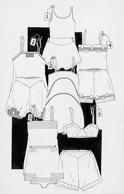 Illustration Of Sleepwear Art Print