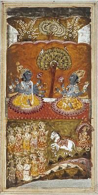Hindu Goddess Photograph - Illustration Of The Bhagavata Purana by Everett
