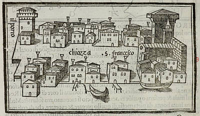 Cartography Photograph - Illustration Of The City Of Chiozza by British Library