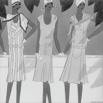 Friend Digital Art - Illustration Of Three Women by Harriet Meserole