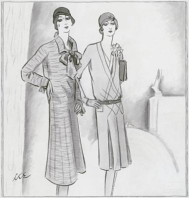 Fashion Design Digital Art - Illustration Of Two Women by Creelman