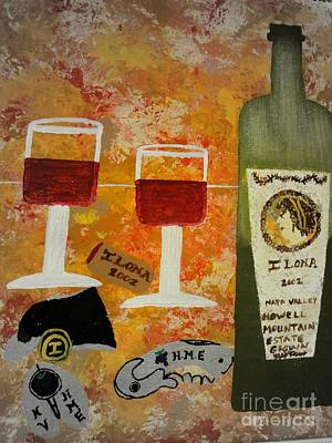 Mixed Media - Ilona Wine by Dori Meyers
