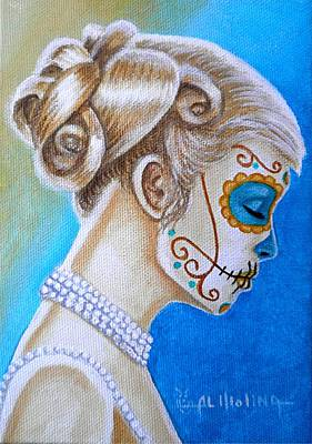 Iluminar El Azul Art Print
